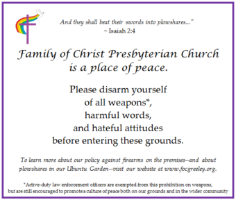 A Place of Peace - Family of Christ Presbyterian Church